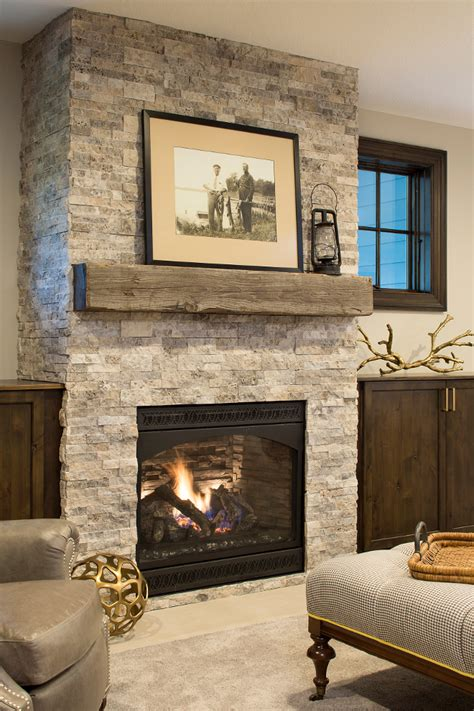reclaimed wood and stone fireplace wall classic coastal cottage style home home bunch interior