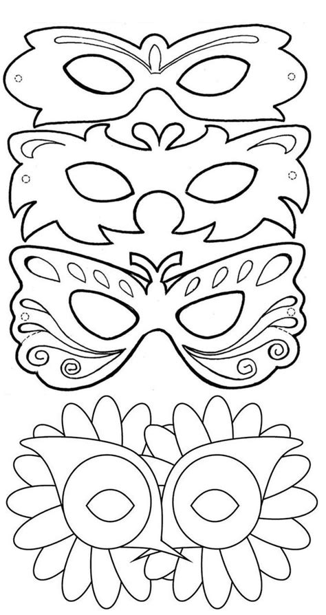 purim mask template activities for preschool mask carnival masks costumes