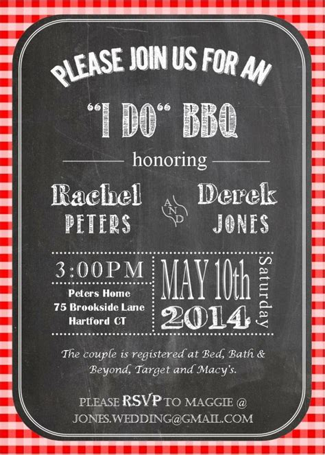 barbecue wedding reception invitations it s an i do bbq