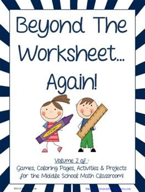 Beyond The Worksheet Answers by 226 Best Images About Teaching Ideas Math 6th Grade