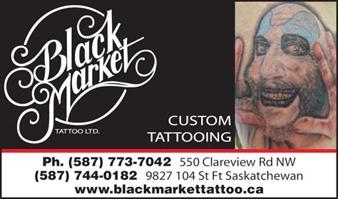 tattoo xtreme fyshwick trading hours black market tattoo edmonton ab 140 550 clareview rd