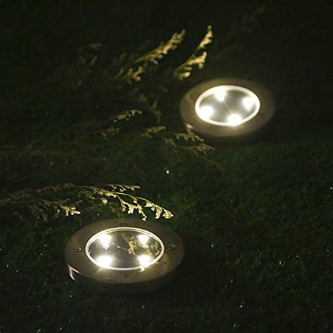 in ground pathway lights tomshine 4pcs 4 led solar lights outdoor ground lights