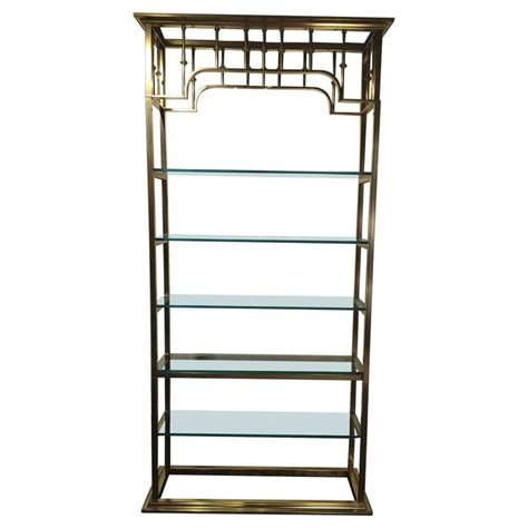 Etagere 6 Cases by Mastercraft Brass Regency Style 201 Tag 232 Re For Sale At