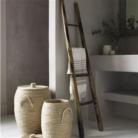 decorative ladder for bathroom natural modern interiors decorating with ladders in