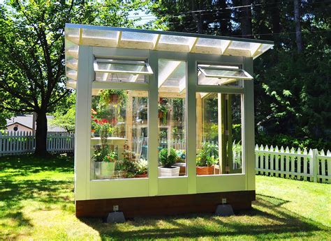 backyard green houses studio sprout s backyard greenhouse combines stylish form