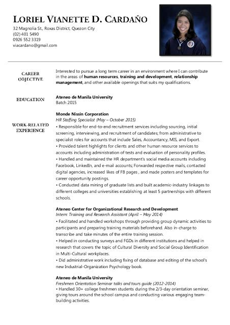Human Resources Assistant Resume Objective Exles