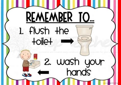 bathroom hygiene bathroom hygiene posters top teacher innovative and