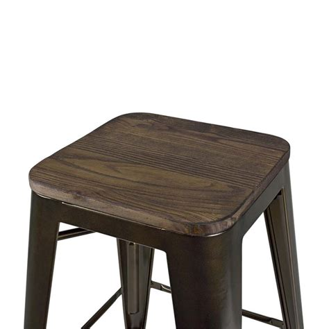 Antique Bronze Counter Stools by 24 Quot Industrial Metal Counter Stool In Antique Bronze S002107
