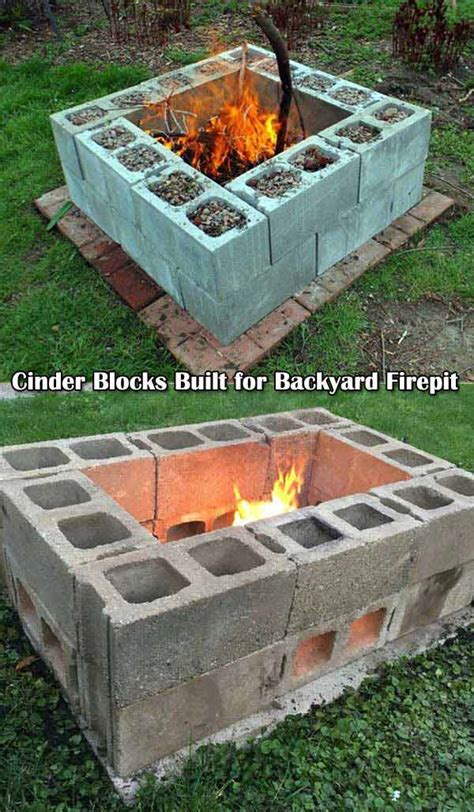 Cinder Block Pit Inexpensive And Attractive Ideas Top 31 Diy Ideas To Build A Firepit On Budget