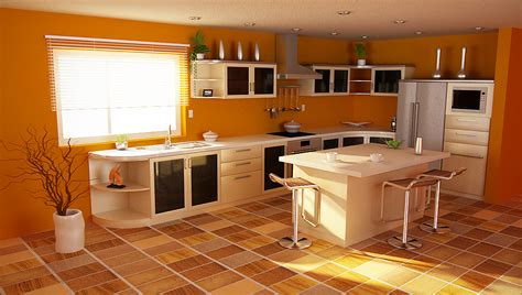 orange and yellow kitchen orange kitchens