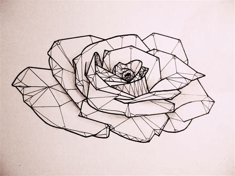 geometric rose tattoo low poly design tattoos