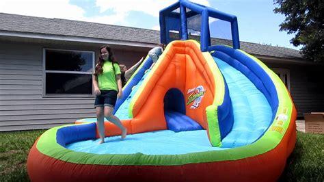 buy bounce house with slide bounce house water slide banzai sidewinder falls waterslide youtube
