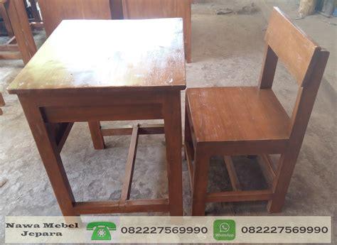 Kursi Kayu Single meja kursi sekolah single terbaru untuk sd smp sma jual meja dan kursi sekolah jati harga murah