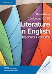 cambridge igcse literature in 0521136105 9781107637054 cambridge igcse literature in english teachers resource cd rom by russell carey