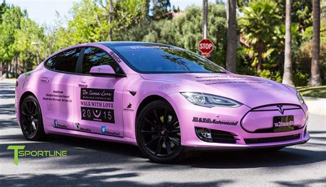 pink s pink tesla model s is ready to take on breast cancer