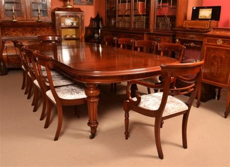 12 Chair Dining Table Antique Mahogany Dining Table C1870 12 Chairs