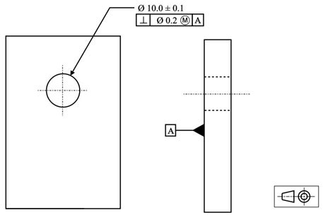 Drawing Zone Callout by Perpendicularity Gd T Basics
