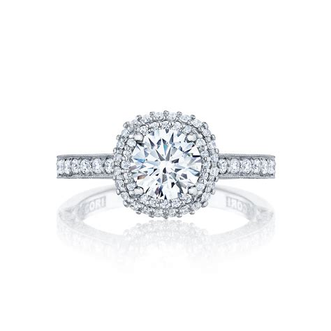 tacori engagement rings blooming halo setting 0 61ctw