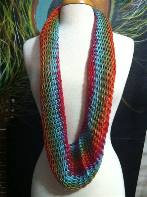 where is infinity made knit infinity scarf made on martha stewart loom in