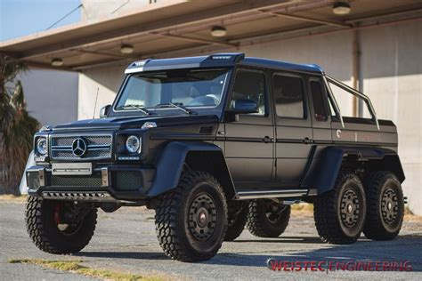 mercedes benz jeep 6 wheels weistec engineering tunes mercedes benz g63 amg 6 215 6