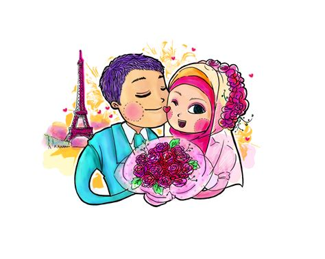 desain undangan pernikahan animasi desain murah ll 085713900121 ll pin 286b5a4b kartun