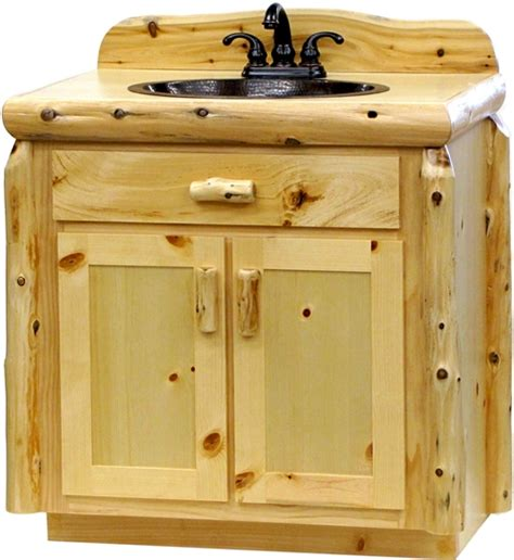Pine Vanity Cabinet by Vanity Cabinets Pine Log Bathroom Vanity Wholesale Log
