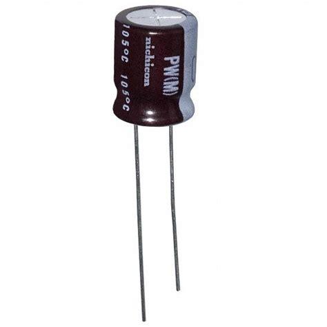 capacitors nichicon upw2w010mpd nichicon capacitors digikey