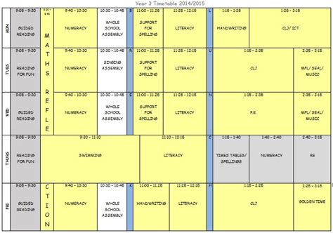 printable calendar ks2 visual printable timetables calendar template 2016