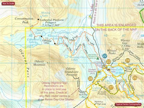 canadian national parks map canada gem trek hiking maps of the banff jasper
