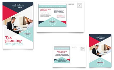 powerpoint postcard template tax preparer postcard template design