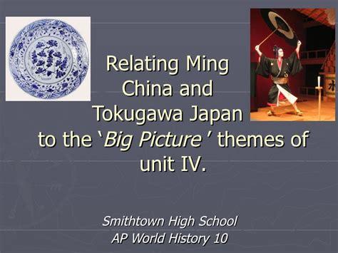 Ap World History Lambert High School Summer Work Ming China And Tokugawa Japan To The