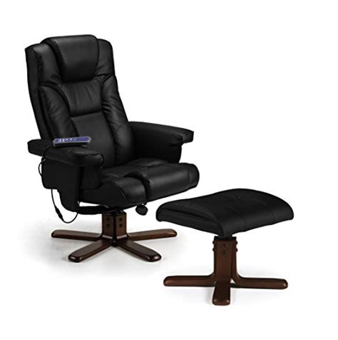 julian bowen malmo recliner and footstool black julian bowen malmo heat massage recliner and footstool black