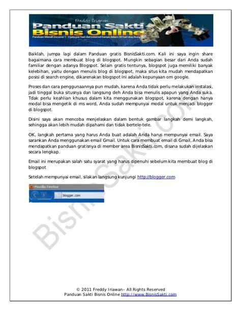 membuat blog net membuat blog di blogspot bisnissakti com