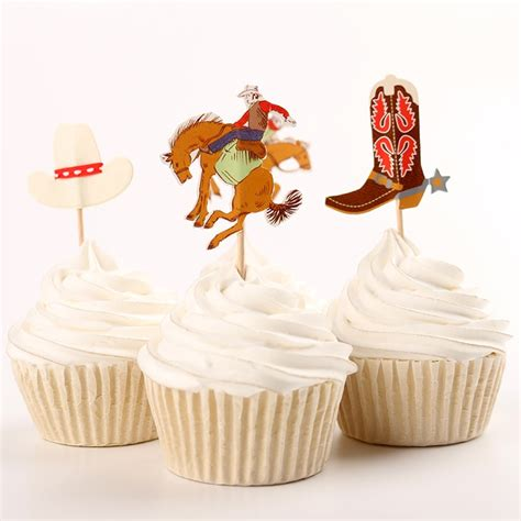 bridal shower cupcake toppers picks western cowboys cupcake toppers baby bridal shower birthday country wedding food