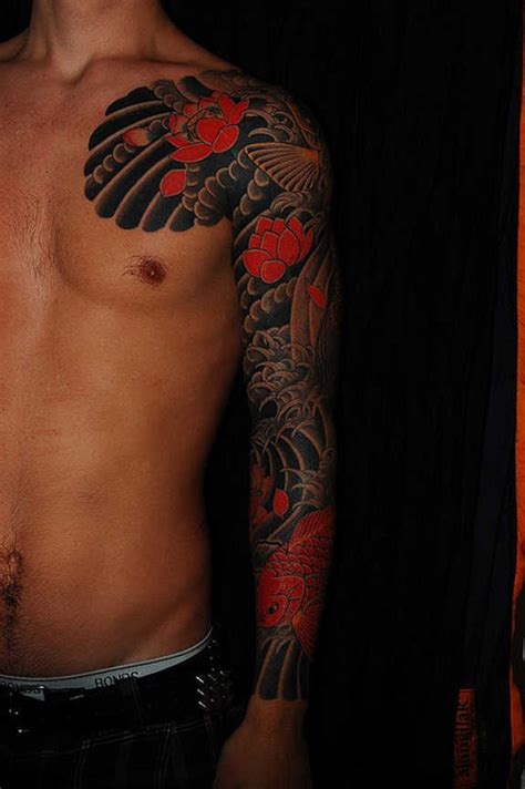 tattoo arm koi 29 magnificent koi sleeve tattoos designs