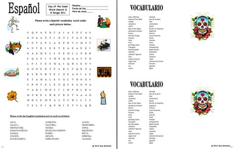 Dead Search Day Of The Dead Dia De Los Muertos Word Search