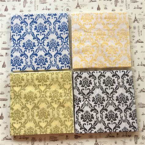 Tisu Motif Napkin Decoupage 106 black and gold napkins promotion shop for promotional black and gold napkins on aliexpress