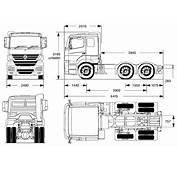 Mercedes Benz Axor 2006 Blueprint  Download Free