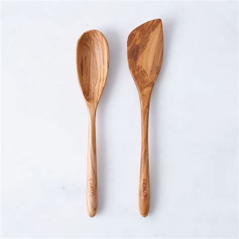 Wooden Spoon Spatula staub olive wood spoon spatula set on food52