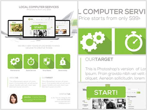 it services template computer services flyer template flyerheroes