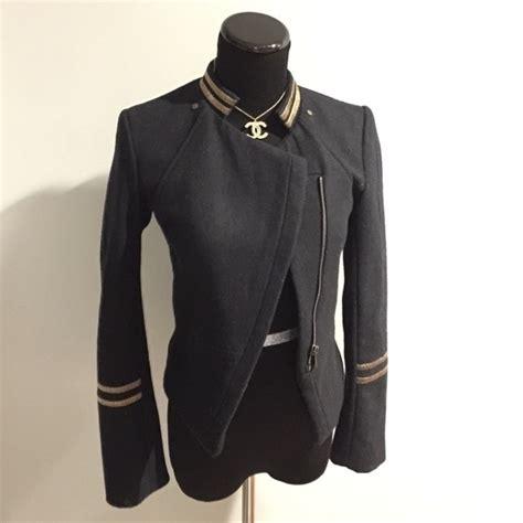Blus Semi Blezer 50 h m jackets blazers h m navy blue semi cropped zip up blazer jacket from s
