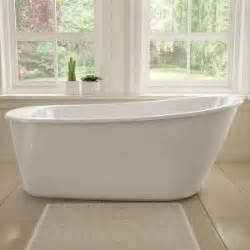 home depot freestanding bathtubs maax sax 5 ft freestanding reversible drain bathtub in