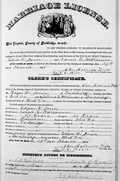 Williamson County Marriage Records Edgar W Jones Florence Williamson