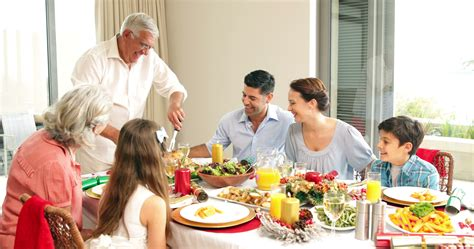 Family Dinner Table by A Organic Happy Healthy Meal