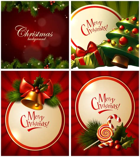 merry christmas greeting cards vector set  vector graphics blog