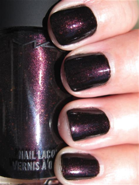 An Afternoon With Nocturnelle by Mac Style Black Nail Lacquer Swatches Review Vy Varnish