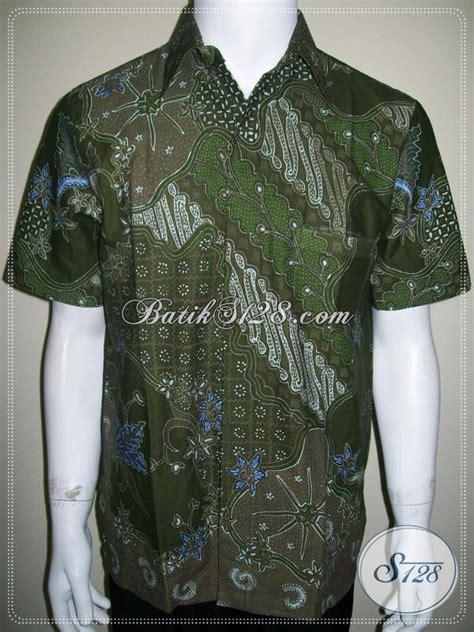 Gt221 Warna Biru Soft batik pejabat batik tulis pria warna hijau soft elegan