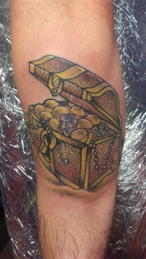 treasure chest tattoo new treasure chest piecing the nautical sleeve
