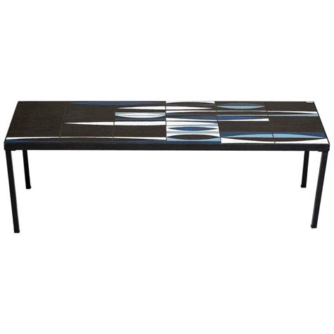 black ceramic table l capron blue black ceramic navette coffee table iron 1950