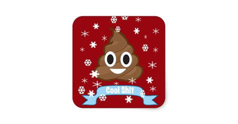 Wall Sticker Mirror poop emoji funny christmas sticker zazzle